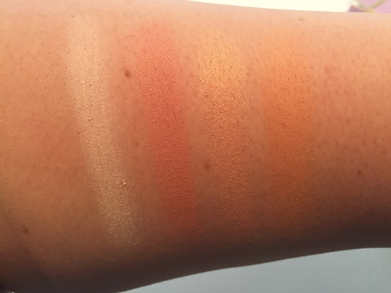 Too Faced White Peach Palette Swatches Row 1