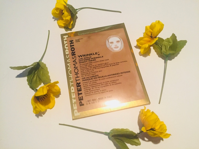 Peter Thomas Roth 24K Gold Intense Wrinkle Sheet Mask Review | Tayler's Edit