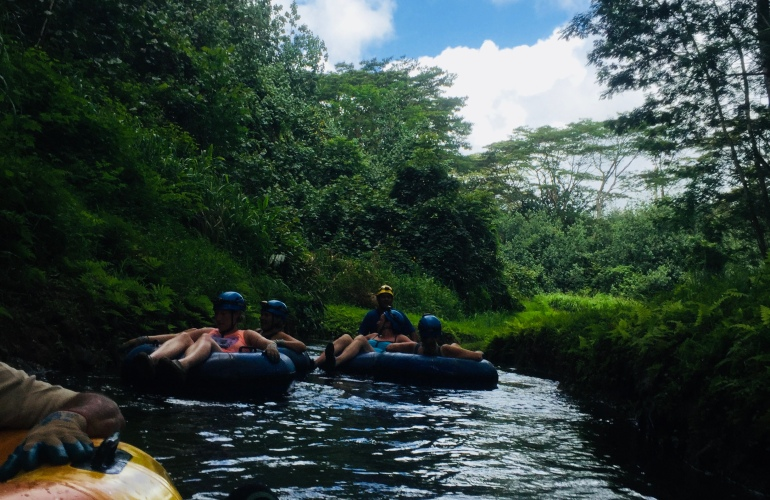 Hawaii Adventures Tubing Down Lihue Plantation | Tayler's Edit