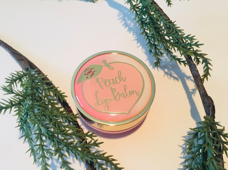 Too Faced Peach Lip Balm | Tayler's Edit