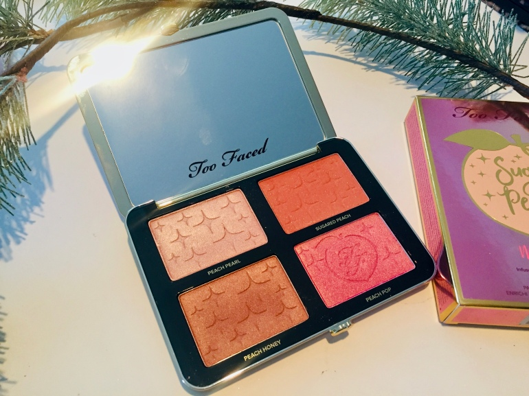Too Faced: Sugar Peach Face & Eye Palette Review | Tayler's Edit