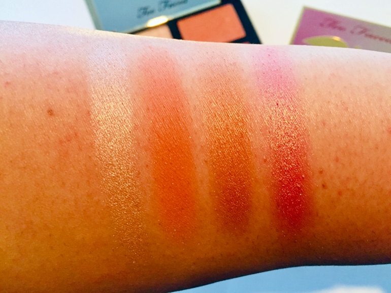 Too Faced: Sugar Peach Face & Eye Palette Swatches | Tayler's Edit