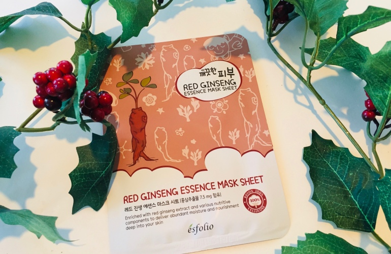 Esfolio: Red Ginseng Essence Sheet Mask Review | Tayler's Edit