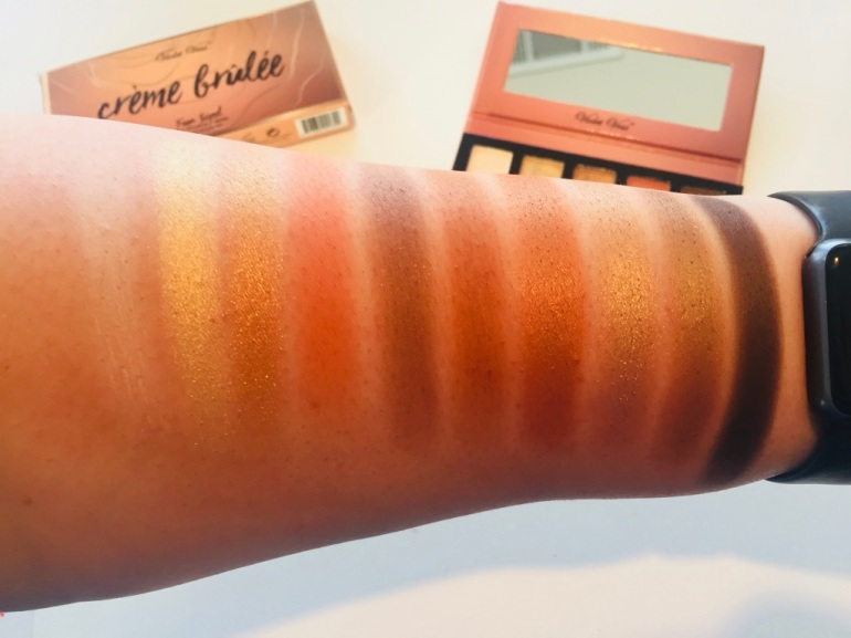 Violet Voss: Crème Brulee Fun Sized Eye Shadow Palette Swatches | Tayler's Edit