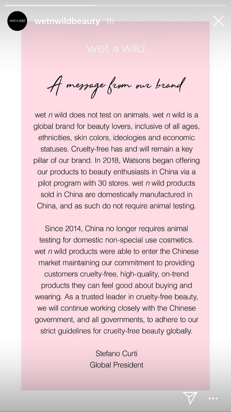 Wet N Wild's Cruelty Free Statement | Tayler's Edit